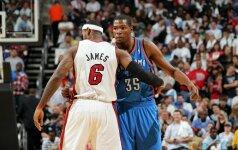 L.Jamesas ir K.Durantas - NBA savaitės naudingiausieji