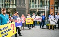 Lietuvos vežėjai piketuoja prieš Prancūzijos reikalavimus