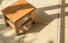 Darau pats: medinė taburetė