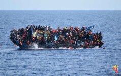 Apie 250 migrantų galėjo žūti nuskendus valčiai Viduržemio jūroje
