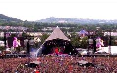 Glastonberio muzikos festivalyje visų akys krypo į K. Perry