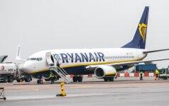 """""""Ryanair"""" nusisuka nuo Jungtinės Karalystės"""