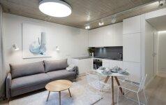 2 miestietiški butai Vilniuje: žemiškos paletės darna su industriniais akcentais