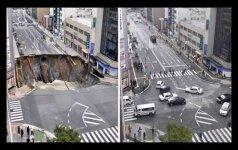 Įgriuvusi ir rekordiškai greitai suremontuota gatvė vėl gąsdino gyventojus