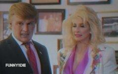 Aktorius J.Deppas parodijavo kandidatą į JAV prezidentus D.Trumpą
