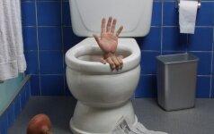 Kaip išvalyti užsikimšusį tualetą?
