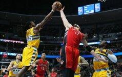"""J. Valančiūnas padėjo """"Raptors"""" po 11 metų pertraukos laimėti Denveryje"""