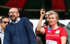 Belgijos princesė apkurtino premjerą Briuselio pusmaratonio starto pistoleto šūviu