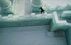 Laisvojo bėgimo entuziastas J. Paulis atliko triukus Kinijos ledo mieste