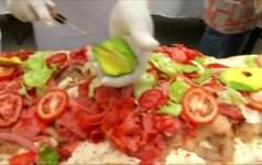 Meksikoje pagamintas 67 m ilgio sumuštinis