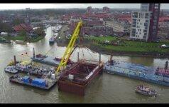 Olandijoje iš upės dugno iškeltas Viduramžių pirklių laivas