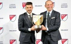 """Naudingiausiu MLS lygos žaidėju pripažinta buvusi """"Barcelona žvaigždė D. Villa"""