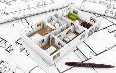 Architektas pataria, kaip suplanuoti svetainės zoną