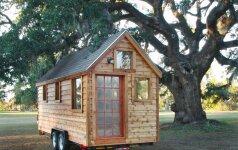 Mažų namų judėjimas: gyvenimas 8 kvadratinių metrų bute