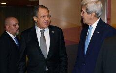 j. Kerry ir S. Lavrovas nepasiekė proveržio per derybas dėl Alepo
