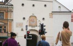 Vilniuje stipriai girtą vairuotoją sustabdė Auštos Vartų bažnyčia