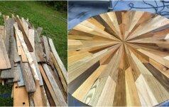 Darau pats: pavyzdys, kaip galima panaudoti atliekamą medieną