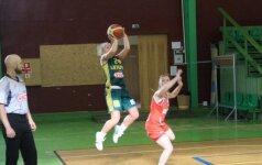 Lietuvos 20-metės krepšininkės per pratęsimą palaužė ukrainiečių pasipriešinimą