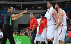 JAV žvaigždžių trenerio pagarbą užsitarnavę ispanai: širdis kraujuoja