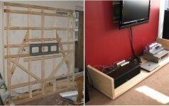 Darau pats: laidų rezginį paslepianti televizoriaus sienelė