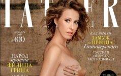 Ksenija Sobčiak žurnalo Tatler viršelyje