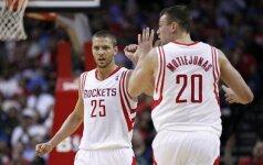 """D. Motiejūnas prie lengvos """"Rockets"""" pergalės prisidėjo kukliai"""