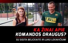 """""""Sporto namų"""" testas: ką L. Lekavičius žino apie komandos draugus"""