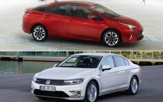 Toyota Prius ir Volkswagen Passat