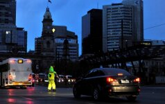 Visa Pietų Australija po didelės audros liko be elektros