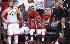 """""""Raptors"""" ir J. Valančiūno odisėja NBA baigėsi konferencijos finale"""