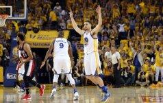 """K. Thompsonas pasiekė NBA tritaškių rekordą, o """"Warriors"""" pranoko """"Blazers"""""""