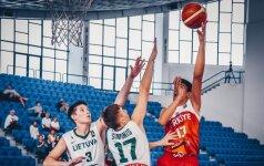 Turkams pralaimėję Lietuvos 16-mečiai liko be kelialapio į pasaulio čempionatą