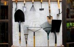 Kaip laikyti sodo įrankius darbų sezoną uždarius?