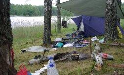 Aplinkosaugininkams netvarka prie ežero nepatiko