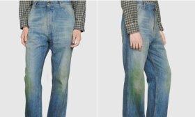 """Jei manote, kad matėte viską – """"Gucci"""" pristato purvinus džinsus už nepadorią kainą"""