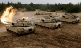 American tanks arrive in Lithuania