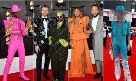 """""""Grammy"""" raudonasis kilimas spindėjo ryškiausiomis spalvomis ir stebinančiais stiliaus sprendimais"""