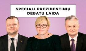 Finalinė prezidentinių debatų laida: Saulius Skvernelis, Ingrida Šimonytė ir Gitanas Nausėda
