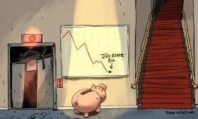Pasaulio ekonomika nusileido liftu, atgal kopia stačiais laiptais