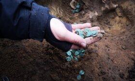 Atrastas monetų lobis