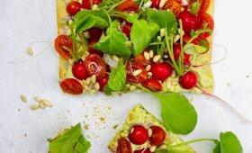 Traški daržovių tartaletė su kiaušinių kremu pagal Alfą Ivanauską