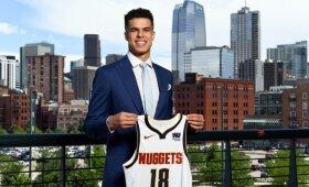 """Karnišovo ir """"Nuggets"""" naujokų biržoje pasirinktas Porteris gali praleisti visą debiutinį sezoną"""