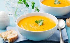 Trinta patisonų ir morkų sriuba