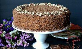 Chocotorta – nekeptas šokoladinių sausainių ir karamelės tortas