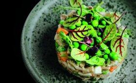 Balta mišrainė su tuno majonezu
