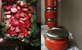 Keptų pomidorų padažas žiemai