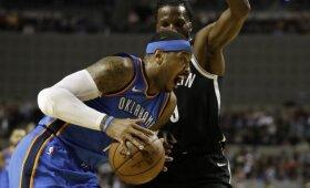 """NBA naktis: """"Thunder"""" fiasko Meksikoje, Ingramo šūvis ir """"Rockets"""" pergalių serija"""