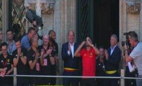 Briuselyje buvo iškilmingi sutikti bronzos medalius iškovoję Belgijos raudonieji velniai