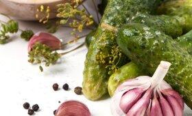 Saldžiarūgščiai, GREITAI MARINUOTI agurkėliai