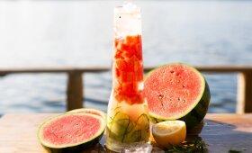 Gaivinantis arbūzinis mėtinis limonadas pagal Alfą Ivanauską